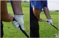 """At address, your hands should hang just forward of your pants zipper (just off the inside of your target side thigh). The hands-to-body distance varies depending on the club you are hitting. A good rule of thumb is hands """"a palm's width"""" (photo, left) from the body for short and middle irons (4 to 6 inches) and """"a palm's length"""" (photo, right) - from the bottom of the wrist to the tip of your middle finger - for long irons and woods."""