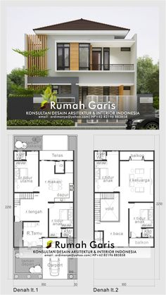 Discover recipes, home ideas, style inspiration and other ideas to try. Bungalow Haus Design, Duplex House Design, Duplex House Plans, House Front Design, Home Room Design, Small House Design, Modern House Floor Plans, Contemporary House Plans, Minimalis House Design