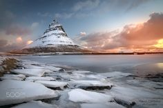 Kirkjufell mood - Kirkjufell (Icelandic: Church mountain) is a 463m[1] high mountain on the north coast of Iceland's Snæfellsnes peninsula, near the town of Grundarfjörður.