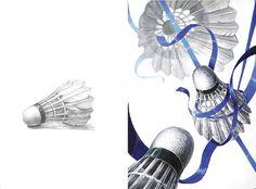 미대입시사 Badminton Birdie, Poster Decorations, Teaching Materials, Line Drawing, Art Education, Colored Pencils, Surrealism, Design Art, Drawings