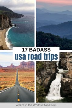 The US is a country that is made for road trips, with so many diverse landscapes and different cultures within the one country. The hardest thing is choosing which USA road trip to do, so let me help you with your decision. Here are 17 Badass US road trips to choose from, taking you between different incredible destinations throughout the country. | Where in the World is Nina? #usaroadtrips #usroadtrips #roadtrip #USA