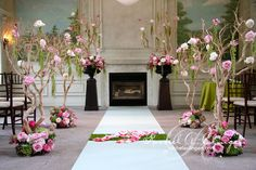 Rustic Enchanting Elegance aisle decor | Rachel A. Clingen Wedding Design