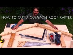 Construction Rocks- Marking a Common Rafter With a Speed Square - YouTube
