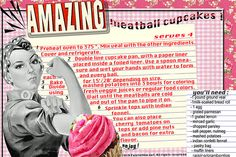 amazing meatballs recipe card