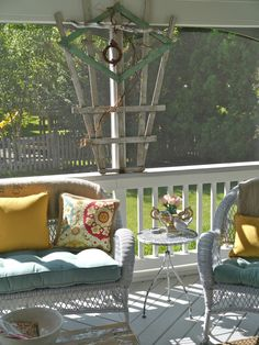 Chateau Chic: Welcome to the Back Porch