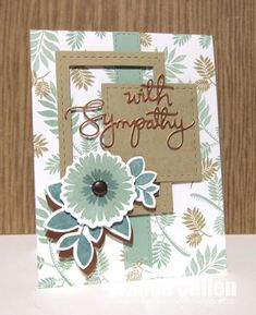 Handmade sympathy card by Wanda Cullen using the Bloom & Grow and Forever in Our Hearts stamp sets from Verve. #vervestamps