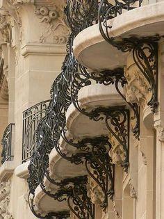 livia-bruch:  Parisian Balconies (art nouveau)
