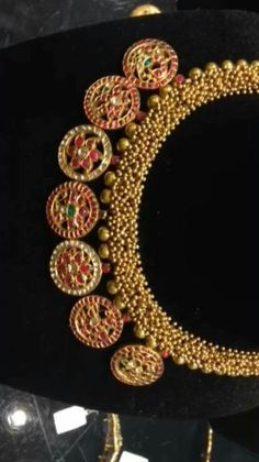 India Jewelry, Temple Jewellery, Gold Jewelry, Jewelery, Unusual Jewelry, Modern Jewelry, Or Antique, Antique Jewelry, Traditional Indian Jewellery