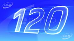 CountDown 120 A2c2 HD - Stock Footage | by bluebackimage