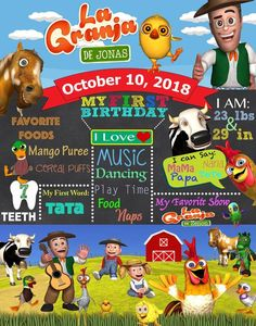 Visit the post for more. Farmer Birthday Party, 2nd Birthday Party Themes, Farm Animal Birthday, Twin Birthday, Birthday Party Decorations, Birthday Chalkboard, Guest Book Sign, Farm Theme, Printable Birthday Invitations