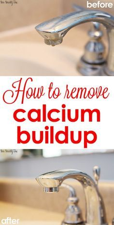 How To Clean Calcium Off Faucets. Calcium in the faucet is a big cleaning problem in the bathroom. I am so happy to met this bathroom cleaning tip. All we need is CLR (Calcium Lime Rust) and Magic Eraser. Tutorial via