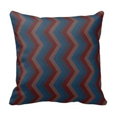 Geometric ZigZag Throw Pillow in Old School Colors