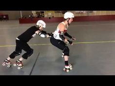 Grab a partner and begin feeling out the differences between rolling, stopping, stepping, and sliding. Once you get comfortable easing between the different . Roller Derby Drills, Roller Derby Skates, Roller Skating, Derby Time, City Roller, Train Hard, Coaching, Quad, Exercise