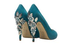 shoes for teal / dark duck egg blue Wedding
