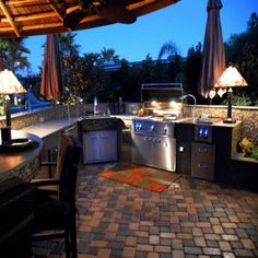 Perfect outdoor kitchen!