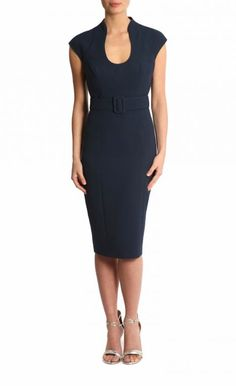 9 To 5 Style | Ink Stretch Crepe Dress