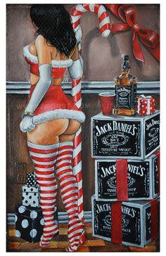 JEREMY WORST Santas Little Helper Christmas Holiday by JeremyWorst