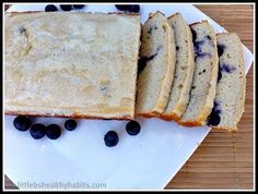 Little b's healthy habits: Blueberry Lemon Protein Loaf