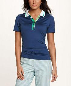 Look at this #zulilyfind! Blue DryTec Nikki Polo - Women #zulilyfinds