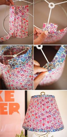 DIY Liberty of London lampshade by melody