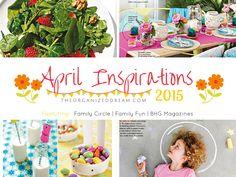 The Organized Dream: April Inspirations 2015 #TriplePFeature