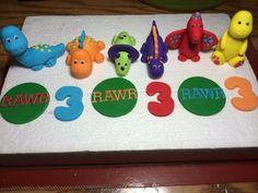 Set of 12 Dinosaur Themed Fondant by HeavenlyCakesFL on Etsy