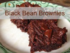 black bean brownies recipe - no flour required Black Bean Brownies, Brownie Recipes, Black Beans, Delicious Desserts, Gluten, Baking, Free, Bread Making, Patisserie