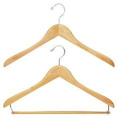Premium Natural Wood Hangers $2.99-$3.99