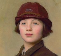 """George Spencer Watson > """"The Saddlers Daughter"""", his daughter's portrait (detail)"""