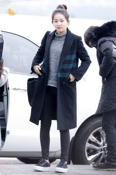 Red Velvet Seulgi Airport Fashion 150114 2015 Kpop