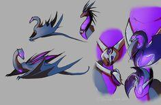 Dragonformers: Soundwave and Lazerbeak concept 2