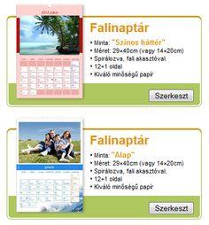 fénykép naptár