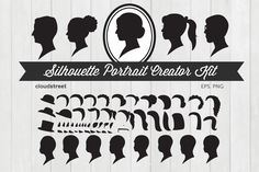 Silhouette Portrait Creator Kit by cloudstreetlab on Creative Market