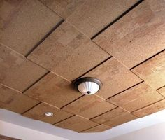 Cork ceiling panels - look great and help with acoustics. | Yelp