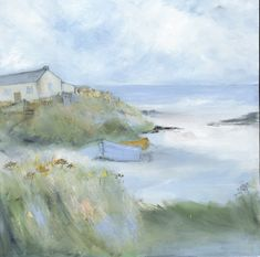 Born in Newcastle, Sue Fenlon has spent most of her life living in and inspired by the coast and countryside of Northumberland. Sue works from a studio overlooking the sea and the fields close to the Old School Gallery. Sue takes daily walks to observe and photograph the changing local landscape and flora which she then paints using acrylics and oil pastels. Sue describes her work is an attempt to capture the way nature evolves through seasonal changes in colour, texture and light…