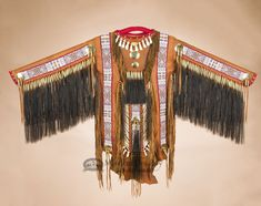"Mission Del Rey Southwest - Native American Tigua Deer Skin War Shirt 65""x42"" - Saddle by Manny Silvas (ws17), $2,699.95 (http://www.missiondelrey.com/native-american-tigua-deer-skin-war-shirt-65x42-saddle-by-manny-silvas-ws17/)"