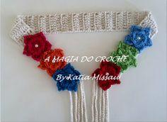 A+MAGIA+DO+CROCHÊ:+Cinto+Flores
