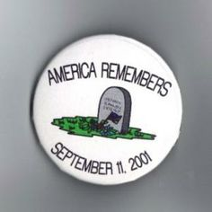 America Remembers September 11, 2001 Metal Lapel, Pin Back Button, Badge Grow and Glow Moon Fairies Glow in dark