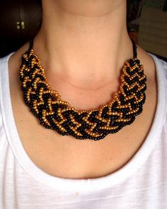5-string braid turned into necklace