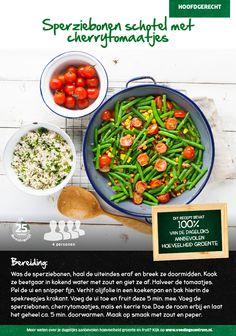 Recept voor sperziebonen schotel met cherrytomaatjes #Lidl