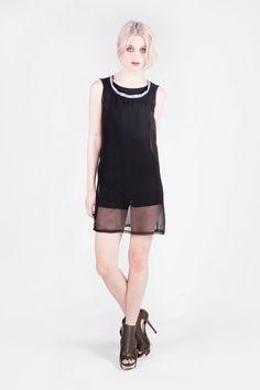 Julia Dress -  Body - Shorts & Sheer Dress with Printed Leather Colar. €145.00, via Etsy. by Amanda Duran