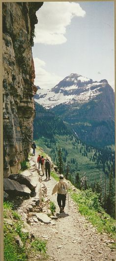 Hiking Highline Trail ~ Glacier National Park, Montana ... I have done this! The view is exhilarating!!