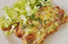 Chicken Enchiladas with homemade enchilada sauce! 8/27/11