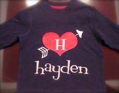 Personalized Boy's Valentine Shirt by thetrendyturnip on Etsy, $24.00