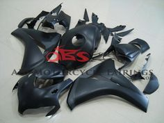 Black & Silver fairing kit for Honda motorcycles, Compressed Fairings (non-injection molding fairings). Matte Black, Black Silver, Ferrari 458, Honda, Motorcycle, Bike, Collection, Grey, Model