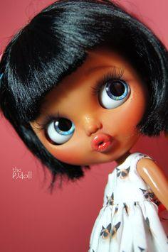 thePJdoll  Sally   Custom Blythe Doll/tan girl/OOAK por ThePJdoll