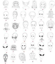 36 types dextraterrestres 36 types alien extraterrestre et bonus