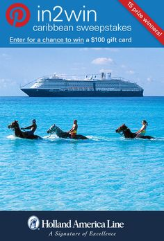 If exciting adventures and excursions say Caribbean Vacation to you, enter the @Holland America Line #Pin2Win Caribbean #Sweepstakes for your chance to #win 100.00 American Express gift card.  #halfmooncay.  Enter now: http://www.hollandamerica.com/pageByName/Simple.action?requestPage=Pinterest_id=SM_Pinterest_Pin2WinCaribbean