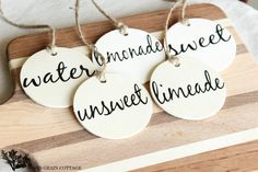 Easy Drink Tags