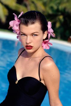 You may know Milla Jovovich from Resident Evil, and you'll see her in the upcoming Stone opposite Robert De Niro, but the almost-famous actress has done everything from modeling to singing. Milla Jovovich, Ukraine, Hollywood Actresses, Actors & Actresses, Resident Evil, Classic Beauty, Beauty Style, Celebrity Photos, American Actress